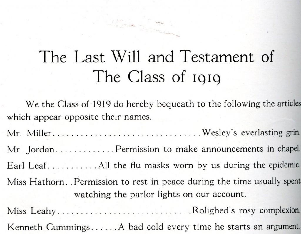1919 last will