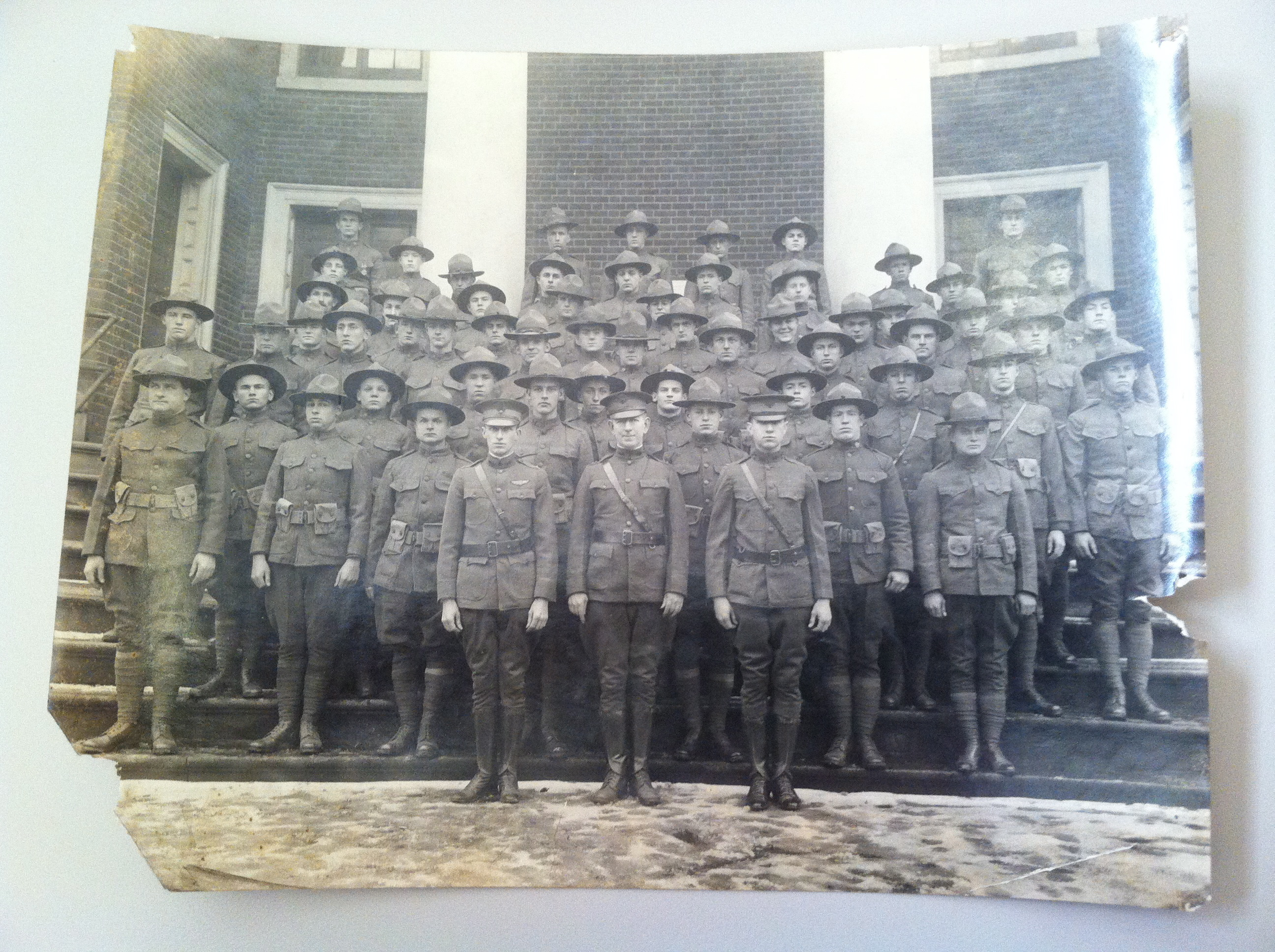 Soliders standing in front of the Fredericksburg Presbyterian Church (c) CRHC